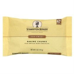Scharffen Berger - Baking Chocolate Chunks 62 Cacao Semisweet - 6 oz.