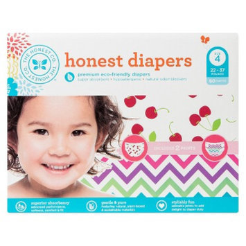 The Honest Company Honest Diapers Value Pack, Chevron & Cherries - Size 4 (60 Count)