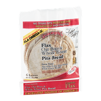 Joseph's Super Soft Pita Bread Flax Oat Bran & Whole Wheat - 6 CT