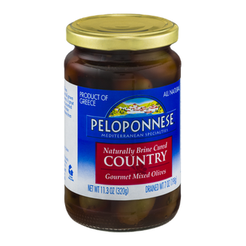 Peloponnese Cured Gourmet Mixed Olives Country
