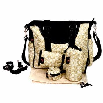 House of Botori Amara Shoulder Bag Filigree Diaper Bag, Sage, 1 ea