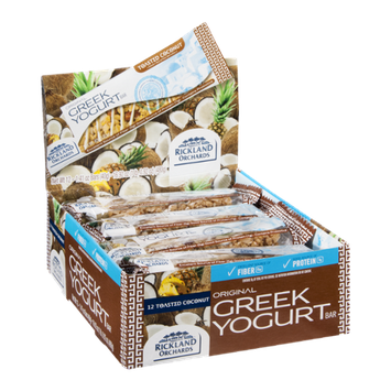 Rickland Orchards Greek Yogurt Bar Toasted Coconut - 12 CT
