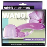 Wand Essentials Rabbit Tip Attachment, Purple, 1 ea