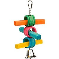 Mac's Creatures & Critters Stick & Ring Natural Bird Toy