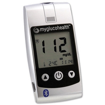Entra Health Systems MyGlucoHealth Blood Glucose Meter with Bluetooth Technology (Canadian Version)