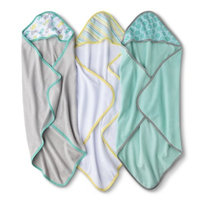 Circo Newborn 3 Pack Hooded Towels - Turquoise/Grey