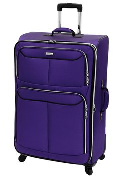 Leisure Luggage, Inc. Leisure Luggage Flight 360 Collection - 30in Purple Upright Suitcase