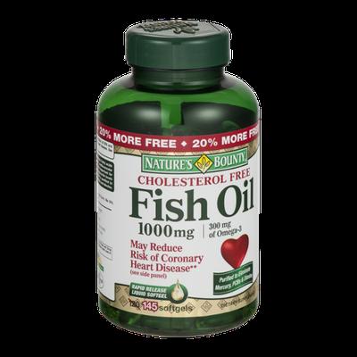 Nature's Bounty Cholesterol Free Fish Oil 1000mg Softgels - 145 CT