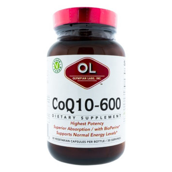 Olympian Labs CoQ10-600, Vegetarian Capsules