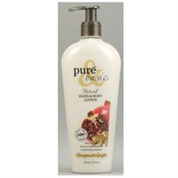 Pure & Basic - Natural Hand and Body Lotion Pomegranate Ginger - 12 oz.