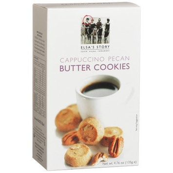 Elsas Story Elsa's Story Cappuccino Pecan Butter Cookies, 4.76-Ounce Boxes (Pack of 8)