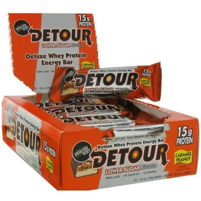 Forward Foods Detour Low Sugar Bars, Caramel Peanut 1.5 oz. bars (Pack of 9)