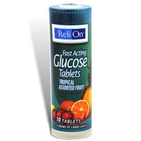 ReliOn - Glucose Tropical Assorted Fruit Flavor On-The-Go Tube, 10 Tablets