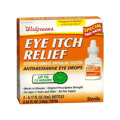 Walgreens Eye Itch Relief Anatihistamine Eye Drops