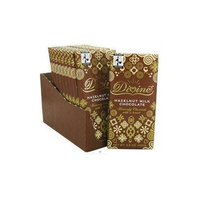 Divine Chocolate 37044 Milk Chocolate Bar With Hazelnuts