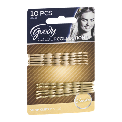 Goody ColourCollection Snap Clips Blonde - 10 CT