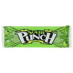 Sour Punch Straws Zappin' Apple