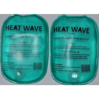 Heat Wave Heat Packs From Bent Grass Concepts HEAT WAVE Instant Reusable Heat Pack - HAND WARMERS (2) = 1 PAIR HEAT WAVE BRAND - Premium Quality - Medical Grade - Made in USA - (not China)