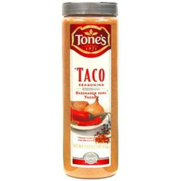 Tones Tone's Spices Taco Seasoning Traditional Blend for Mexican Dishes - Net Weight 23 oz