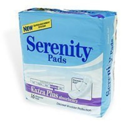 Serenity Extra Plus Absorbency Pads, 416 - 16 pads / Bag, 6 Bags / Case