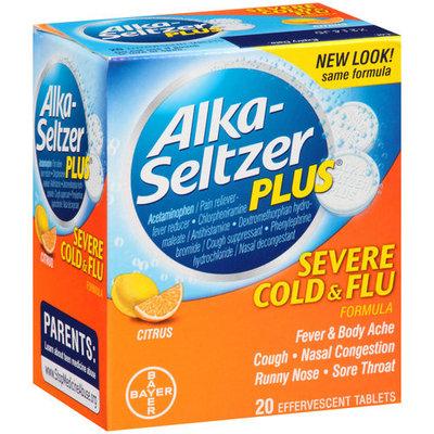 Alka-Seltzer Plus Severe Cold & Flu Formula Effervescent Tablets, 20 count