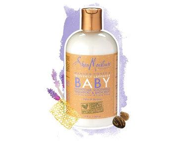 SheaMoisture Manuka Honey & Provence Lavender Baby Nighttime Soothing Shampoo & Bath Milk