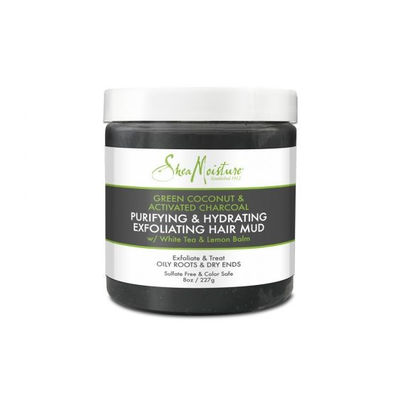 Shea Moisture® Green Coconut & Activated Charcoal Purifying & Hydrating Exfoliating Hair Mud