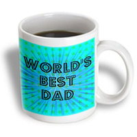 Recaro North 3dRose - PS Creations - Worlds Best Dad Stars - Fathers Day - Art - 11 oz mug