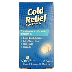 Cold Relief 60 Tabs from Natra-Bio/Botanical Labs