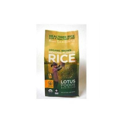 Lotus Foods Rice Organic Brown Mekong Flower, 15 oz