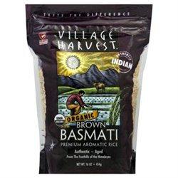 Village Harvest Organic Brown Indian Basmati 16-Ounce -Pack of 6