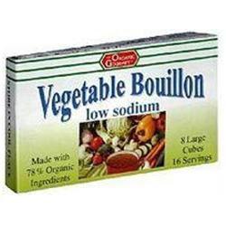 Organic Gourmet B06784 Gourmet Bouillon Cubes Low Sodium - 12x2.54 Oz