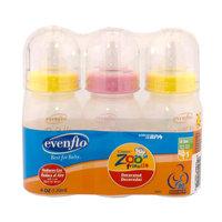 Evenflo Zoo Friends Bottle 4 oz, 3 Pack
