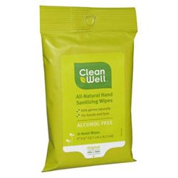 Clean Well Hand Sanitizing Wipes - Pocket Pack 10 Wipes