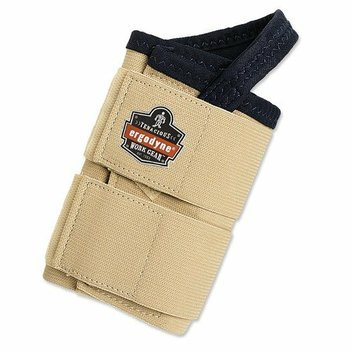Ergodyne ProFlex Extra Large Double Strap Wrist Support for Left Hand in Tan