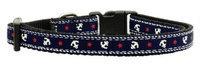 Mirage Pet Products 125016 SMBL Anchors Nylon Ribbon Collar Blue Small