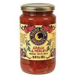 Rising Moon 46856 Organic Garlic & Merlot Pasta Sauce