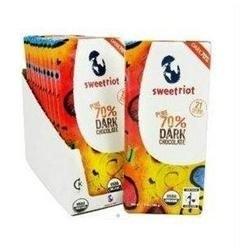 Sweetriot 05145 Sweetriot 70 Dark Chocolate Bar 12x3.5 Oz