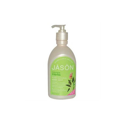 Jason Natural Products 0270009 Satin Soap Liquid Herbal Extracts - 16 fl oz