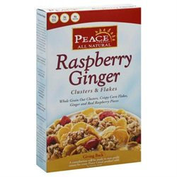 Peace Cereal All Natural Cereal Raspberry Ginger - 11 oz