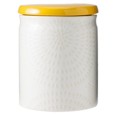 Threshold Ceramic Large Food Canister - White/Yellow