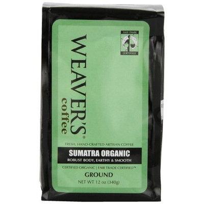 Weaver's Coffee Tea Weaver's Coffee and Tea, Sumatra Organic Ground Coffee, 12-Ounce Bags (Pack of 2)