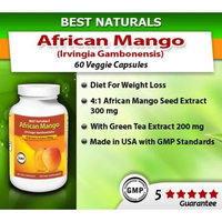 #1 African Mango 500 mg 120 VCaps by Best Naturals - Weight Management - Manufactured in a USA Based GMP Certified and FDA Inspected Facility and Third Party Tested for Purity. Guaranteed!!