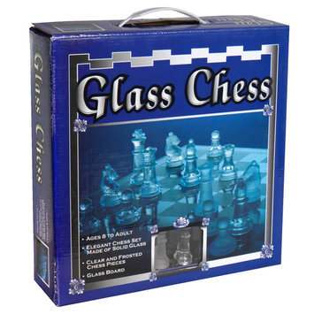 K Mart Cardinal Ind Toys Cardinal Glass Chess, 1 game