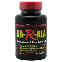 SAN Nutrition Na-R-ALA, Biosolv Enhanced and Stable, 60 Capsules