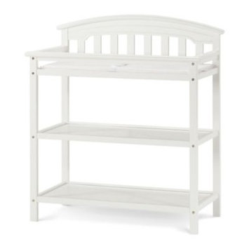 Foundations Worldwide Child Craft Stanford Matte White Dressing Table