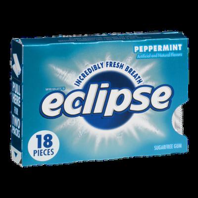 Wrigley's Eclipse Sugar Free Gum Peppermint - 18 CT
