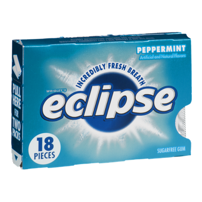 Wrigley's Eclipse Sugar Free Gum Peppermint - 18 CT