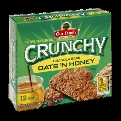 Our Family Crunchy Oats 'N Honey Granola Bars