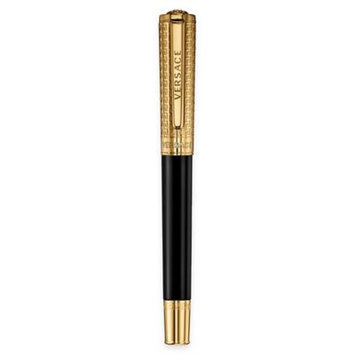 Versace Olympia Rollerball Pen Black with Gold